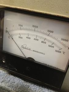 Temperature range of the kiln